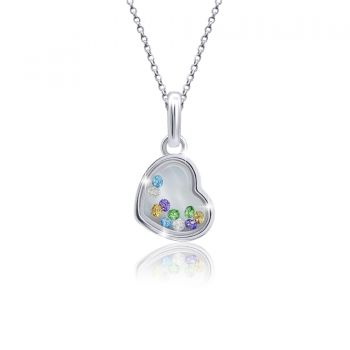 """Pendant """"Heart with moving stones"""""""